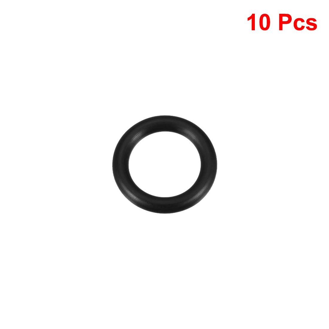 junta de sello redondo Sourcingmap junta t/órica de goma de nitrilo 25 mm de di/ámetro exterior 4 mm de ancho 17 mm de di/ámetro interior paquete de 5