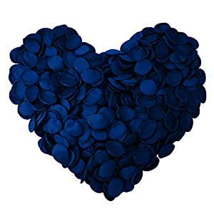 Neo LOONS Premium Artificial Silk Rose Petals Flower Girl Scatter Petals for DIY Wedding Aisle Centerpieces Table Confetti Party Favors Home Decoration, Blue 200pcs