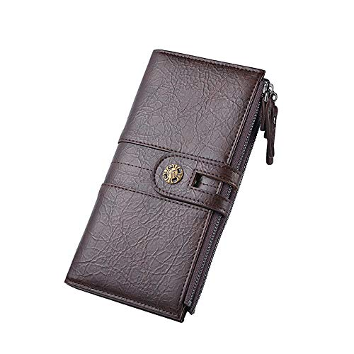 HANGYIKJ Männer Brieftasche Casual Fashion Lange Brieftasche Retro Hand Telefon Tasche