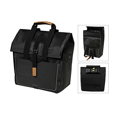 Basil Urban Dry Shopper Fahrradtasche, Black, 34 x 16 x 48 cm