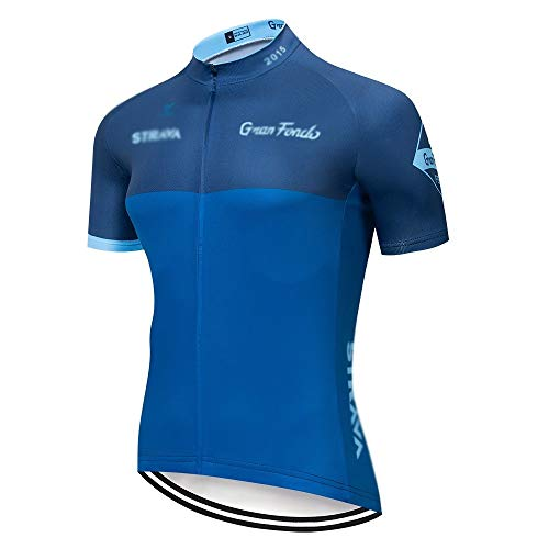 TMY Radtrikot Strava Radtrikot Kurzarm Set Maillot Ciclismo Uniformen schnelltrocknend Fahrradbekleidung MTB Trikot (Farbe: C13, Größe: XL)