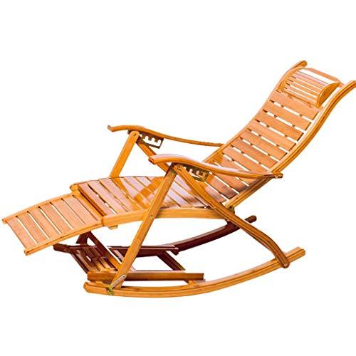 Chaise Longue réglable Chaise Longue inclinable Chaise Longue à Bascule extérieure Chaise Pliante à Bascule pour Patio (Couleur : A)