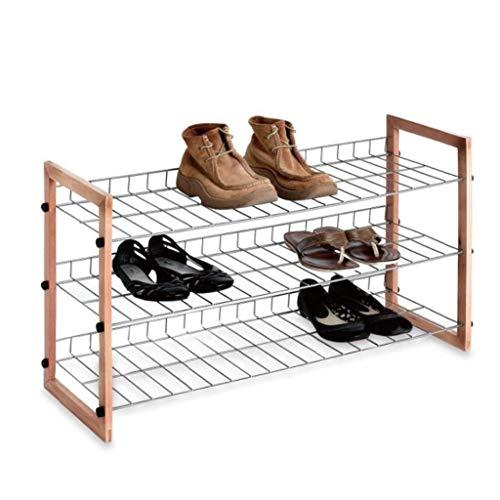 Zapatero Conveniente Zapato Estante de zapatos Rack Zapato Gabinete de zapatos Tres pisos Zapatos de almacenamiento Espacio de suspensión Guardar zapatilla Estante para zapatos de pasillo Gabinete de