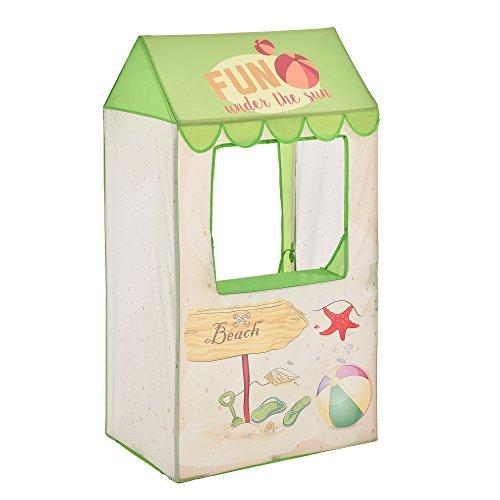 casa.pro Spielzelt Strandbude Bällebad 120 x 65 x 45 cm Kinderzelt Babyzelt Spielhaus Zelt mit Motiv