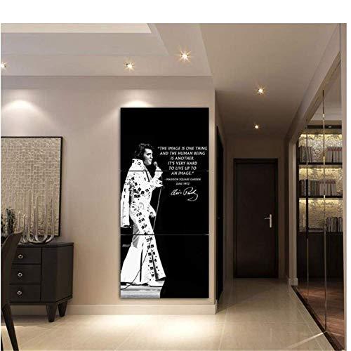 A&D Elvis Presley Dekoration Leinwand Poster Rahmen Moderne Kunstwerk Wandkunst Leinwand Malerei HD Gedruckt Bilder 3 Stücke-50x70 cm x 3 stücke-Kein Rahmen