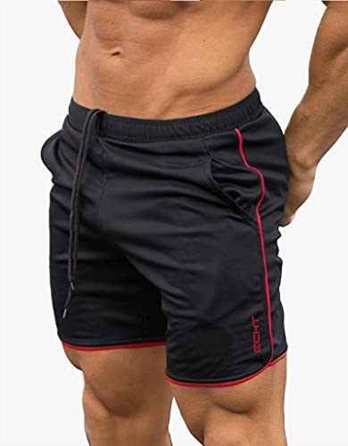 ShSnnwrl Pantaloncini da Uomo Mens Cotton Shorts Calf Length Gyms Fitness Bodybuilding Casual Joggers Workout Sporting Short Pants Sweatpan