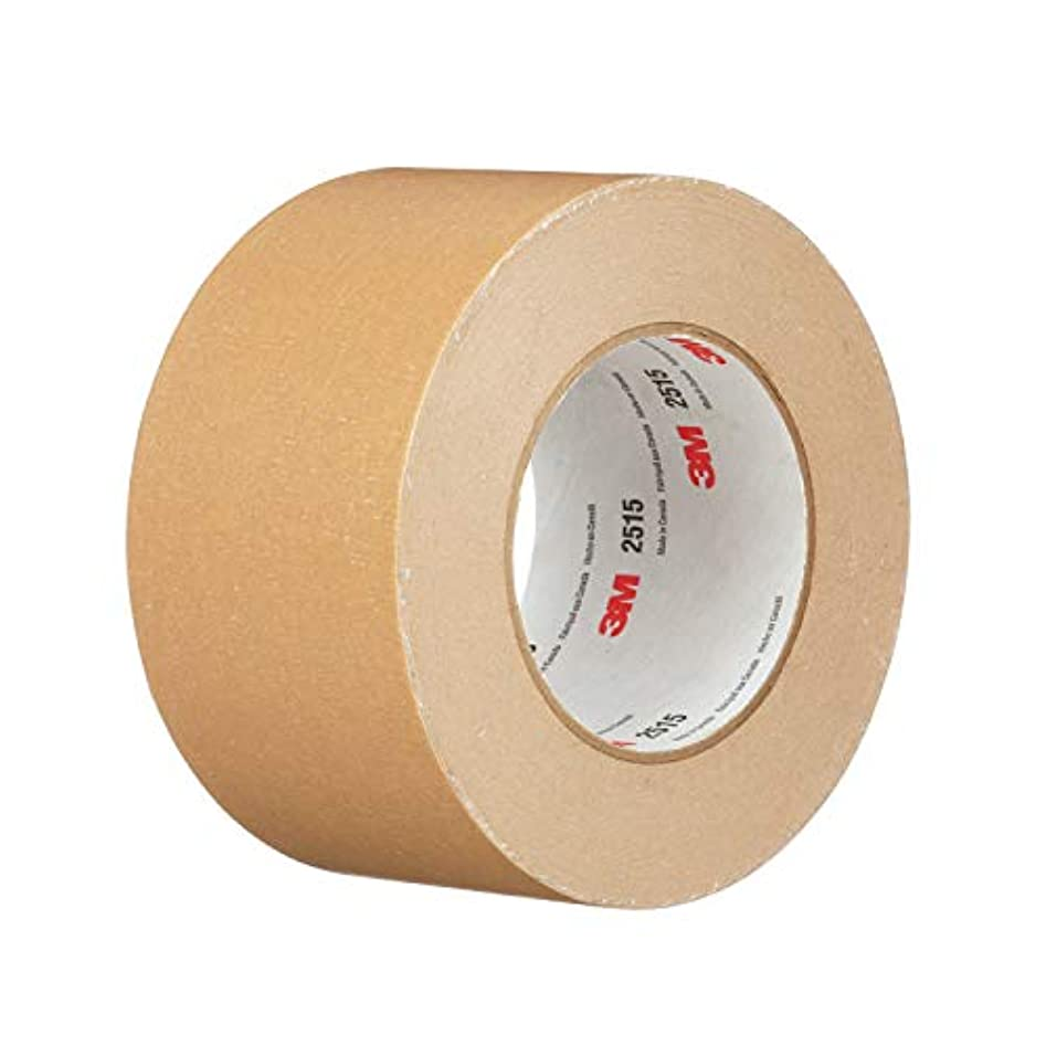 3M 98876-case General Use Flat Back Tape 2515, 48 mm x 55 m, Tan (Pack of 24)