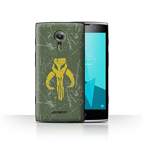 Hülle Für Alcatel Flash 2 Galaktisches Symbol Kunst Kopfgeldjäger Inspiriert Design Transparent Ultra Dünn Klar Hart Schutz Handyhülle Case