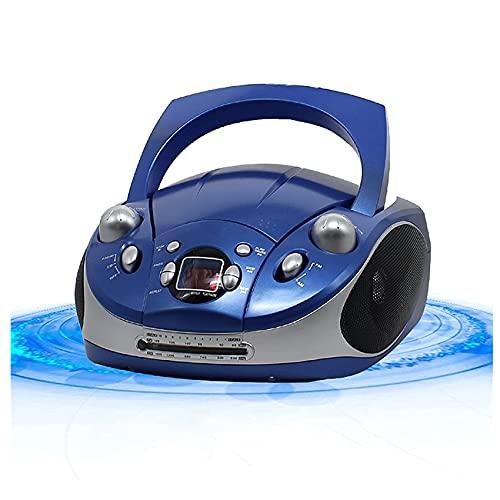 KOIJWWF Tragbarer HiFi-CD-Player Boombox...