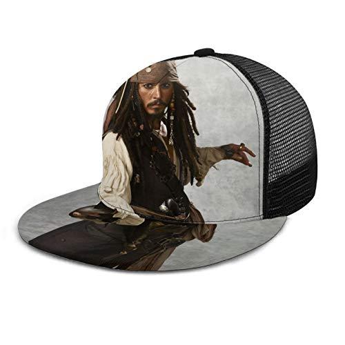 Captain-Jack-Sparrow - Gorras de béisbol de secado rápido para carreras de coche, sombrero de motor para niños y adolescentes, color negro
