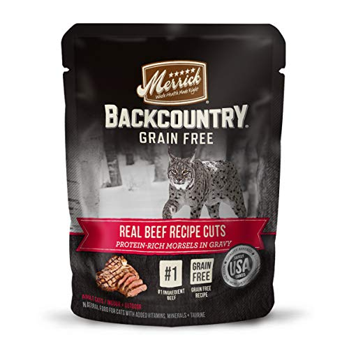 Backcountry Grain Free Real Beef Recipe Cuts Canned Wet Cat Food - (24) 3 oz. Cans