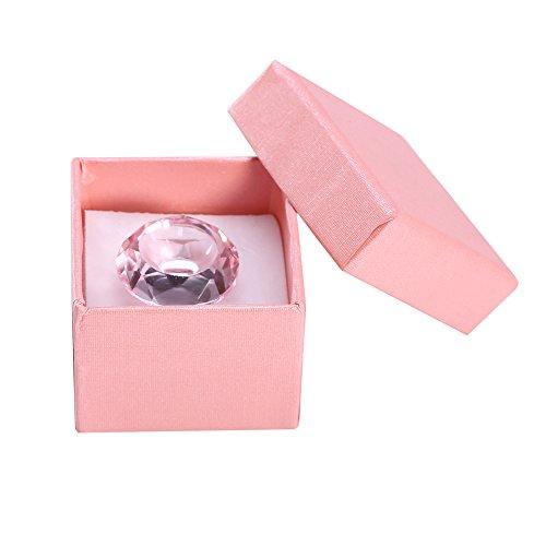 Support de bague de colle adhésif extension de cils, bague de support adhésif adhésif de colle cristal réutilisable Bague de support de palette pour greffe de faux cils(Rose)
