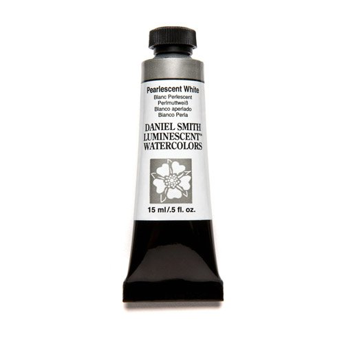 DANIEL SMITH Extra Fine Watercolor Paint, 15ml Tube, Pearlescent White, 284640025