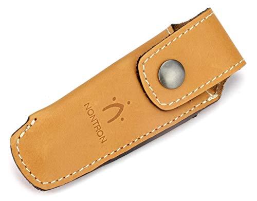Nontron Taschenmesser Gürteltasche - N 25 - Leder braun - Lederetui für 12 cm Messer Griff Keine Kugel