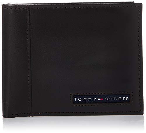 Tommy Hilfiger Cambridge Passcase cartera con tarjetero extraíble de cuero - Marrón - talla única