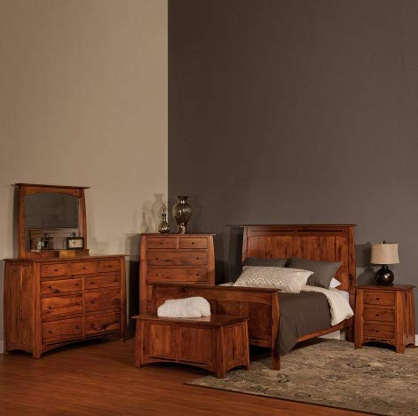 Learn More About Cabinfield Boulder Creek Amish Bedroom Set, Rustic Hickory Wood, Handcrafted Amish ...