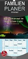 Sternenhimmel im magischen Licht - Polarlicht und Milchstrasse - Familienplaner hoch (Wandkalender 2022 , 21 cm x 45 cm, hoch): Der Himmel in leuchtenden Farben. (Monatskalender, 14 Seiten )