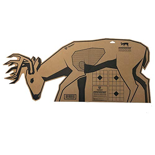 Triumph Systems Downwind | Big Buck | Cardboard Target | 10 Targets | 40 x 17.5 Inches | Hunting Targets | Deer | Archery Targets | Shooting Targets, Multicolor, Downwind Deer