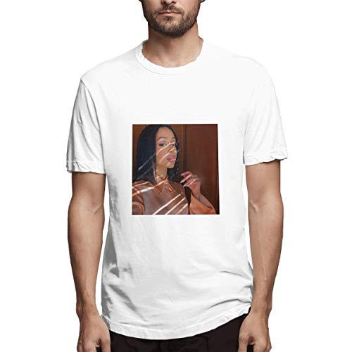 Genertic Liza Koshy T-Shirt Uomo Moda Casual Sport Cotone Manica Corta T-shirt Top bianco XXXXXL