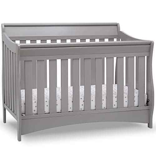 Delta Children Bentley S Series Deluxe 6-in-1 Convertible Crib, Grey