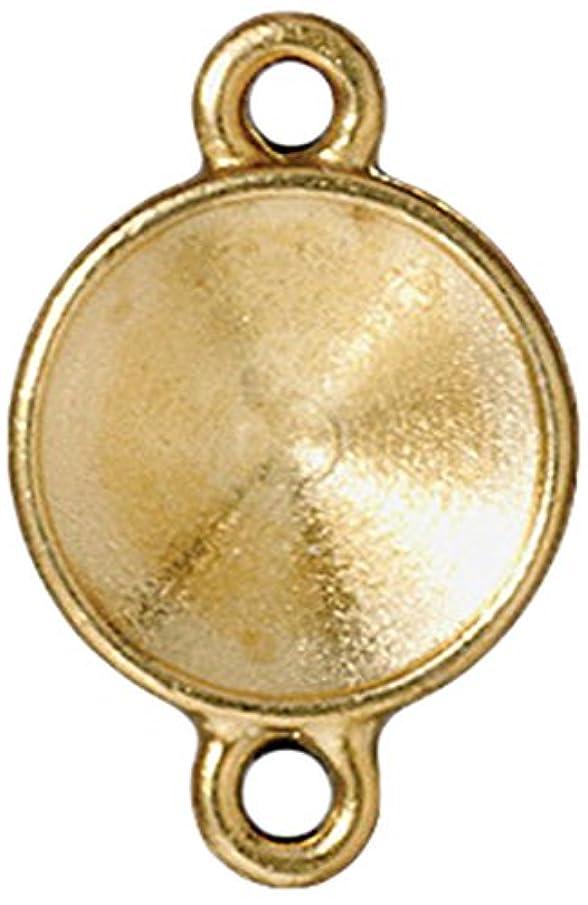 TierraCast Link Frame for Rivoli Charm, 12mm, Bright Gold