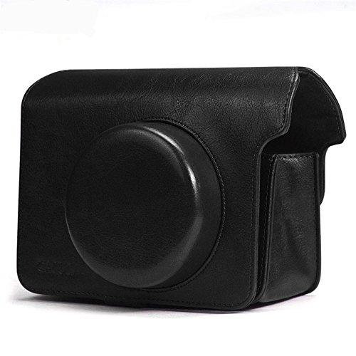 Cuero de la PU correa del hombro bolsa bolsa para FUJIFILM Polaroid Instax Wide 300 Vintage Instant Camera Carry Cover