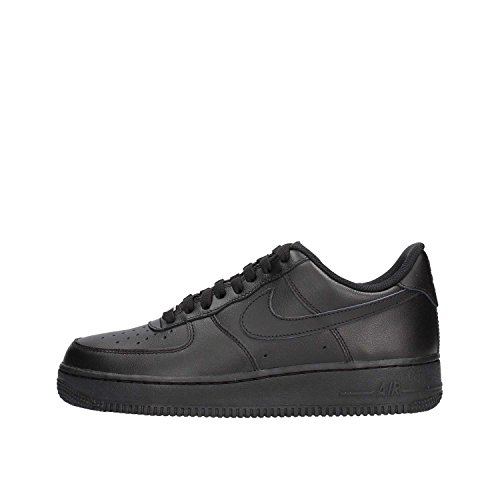 Nike Unisex AIR Force 1 '07' Low-Top, schwarz/schwarz, 38.5 EU