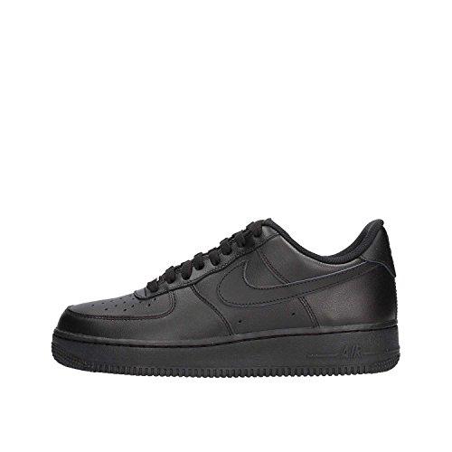 Nike AIR FORCE 1 '07, Sneakers Basses homme - Noir - Schwarz (BLACK/BLACK) - EU: 42 ( 8.5 US )