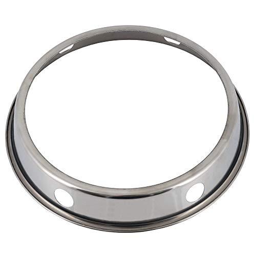 Mahlzeit Edelstahl Wok Ring | Ø 19,5 cm | Geeignet für Woks mit rundem Boden | Wokring für Gasherd, zum Servieren am Tisch | Wokhalterung, Wok Untersetzer, Ringhalterung Wok