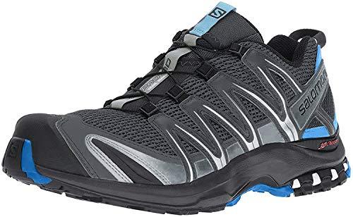 Salomon XA Pro 3D, Zapatillas de Trail Running Hombre, Gris Gris Clair Noir Bleu, 41 1/3 EU