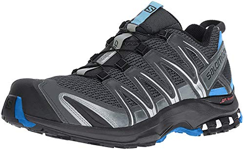 Salomon Salomon Herren XA PRO-3D Fitnessschuhe, Grau (Stormy Weather/Black/Hawaiian Surf), 42 EU