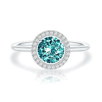 SWAROVSKI Crystal 14K White Gold Plated Birthstone Rings | White Gold Rings for Women | Emerald Ring