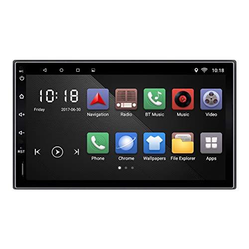 KX09 Android 6.0 Auto Stere 2 Din Auto Radio AM/FM/RDS Navigazione GPS 7 pollici 1024 * 600 Touch Screen Mirror Link Controllo volante BT Chiamata a mani libere Video musicale MP3/MP4/MP5 Head Unit
