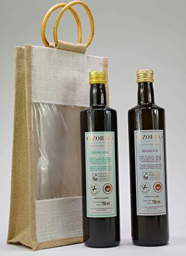 Cazorla Royal - Aceite de oliva prensado en frío, extra nativo de aceite de oliva de Andalucía (0,2% 1A, 100% natural y puro, 2 unidades de 750 ml, incluye bolsa de regalo