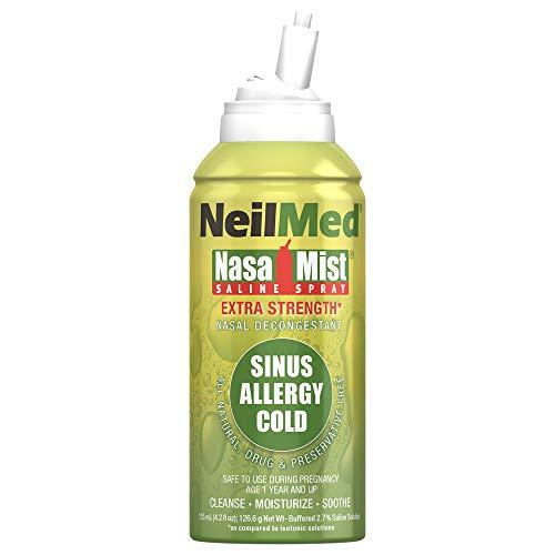 NeilMed NasaMist Hypertonic Extra Strength Saline Spray, 4.2 fl oz (Pack of 1)