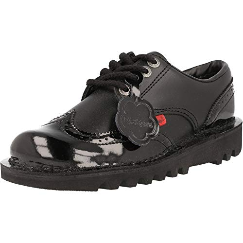 Kickers Kick Lo Brogue Women's Oxford Lace-up Shoes, Black, 6.5 UK (40 EU)