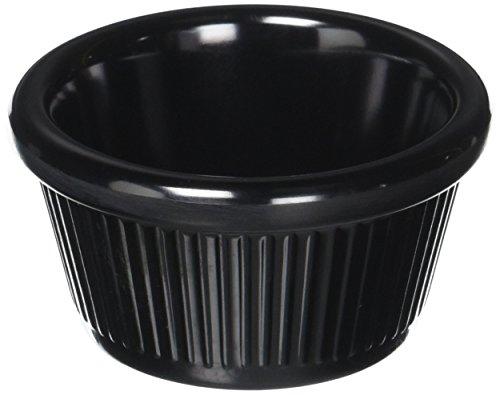 Winco RFM-2K Fluted Ramekins, 2-Ounce, Black