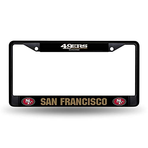 Rico Industries NFL San Francisco 49ers Standard Chrome License Plate Frame , 6 x 12.25'