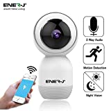 ENERJ Indoor Security Camera System Wireless with Motion Sensor, Night Vision, 360 Degree