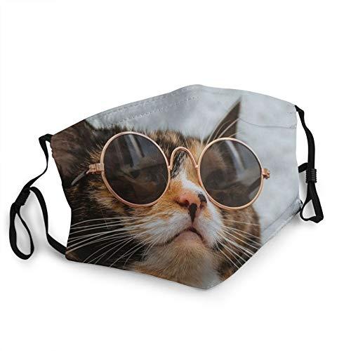 Best Christmas Gifts for Children Cat Wearing Sunglasses Dust Respirator Full Face Mask Science Socks Dustproof Sunscreen Hood Face Mask Headwear Mask