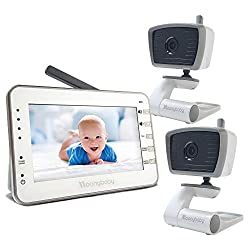 in budget affordable Moonybaby Trust 30 Baby Monitor, 2 Cameras, Bonus: 2 USB Power Cables for Cameras, 4.3…