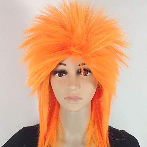 Töte Matt Perücken Weibliche Und Männliche Nicht-mainstream Perücken Lange Glatte Haar Perücken Kurze Gerade Top Perücken Sonnige Orange