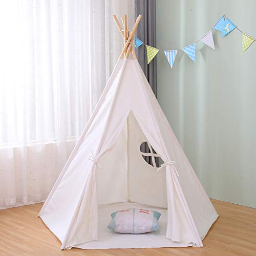 Large Princess Kids Play Tent Camping Sun Shelter Teepee Tent Indoor House for Girls Boys Kids Adults Dog Cat Pet Party Animals Dog Bed Tent 5 Legs