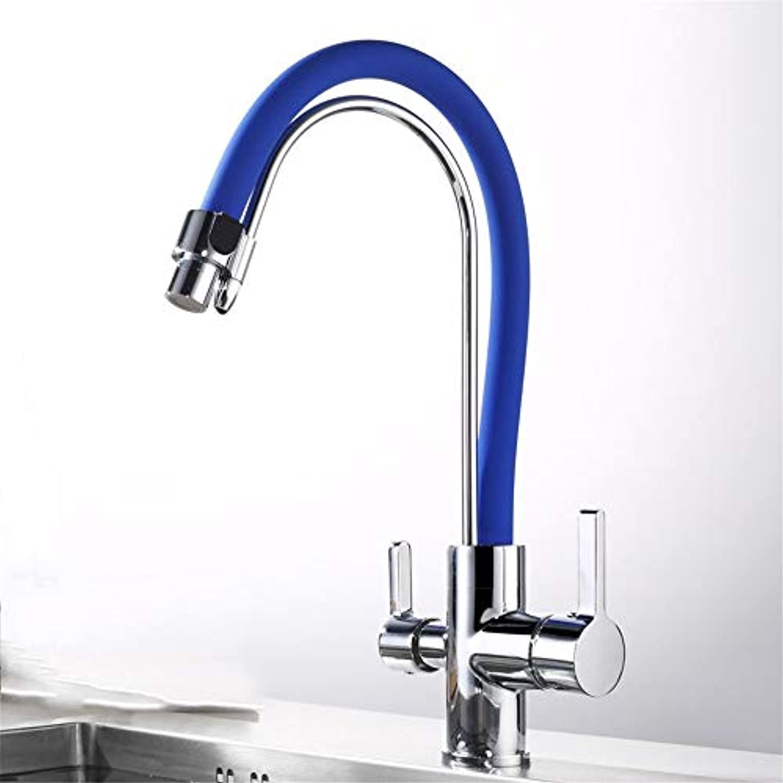 MulFaucet wasserhahn armatur hahn Wasserleitung Faucet Heie und kalte Küchenspüle blau