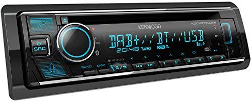 Kenwood KDC-BT740DAB CD-Autoradio mit DAB+ & Bluetooth Freisprecheinrichtung (Alexa Built-in, USB, AUX-In, Hochleistungstuner, Spotify Control, Soundprozessor, 4x50 W, VAR. Beleuchtung, DAB+ Antenne)