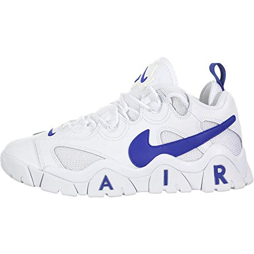 Nike Herren Air Barrage Low Basketballschuh, White/Hyper Blue, 45 EU