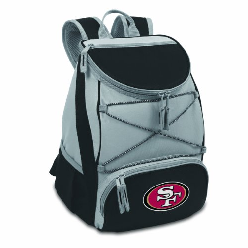 NFL San Francisco 49ers PTX Insulated Backpack Cooler, Black