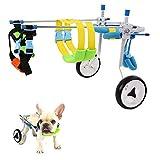Hund Rollstuhl, Haustier Hund Rollstuhl Hintere Extremität Behinderung Hinterbein Rehabilitationstraining Auto für Behinderte Hund