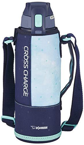 象印 (ZOJIRUSHI) 水筒 直飲み スポーツタイプ ステンレスクールボトル 1.0L ネイビーミント SD-FB10-AG