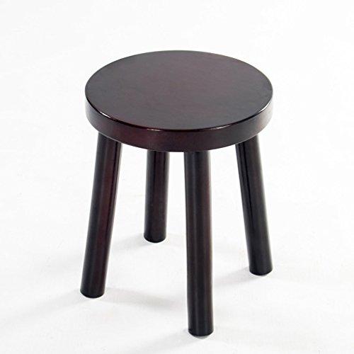 Tabouret en bois massif, tabouret à la maison, tabouret de canapé chaise en bois rétro tabouret de thé banc pour enfants (Design : A)